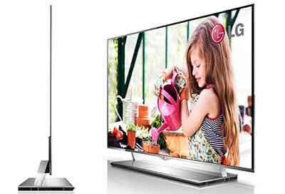شکل-تلویزیون OLED اولد و ضخامت و وزن